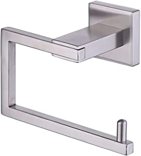 KES SUS 304 Stainless Steel Toilet Paper Holder Storage Rustproof Bathroom Paper Towel Dispenser Tissue Roll Hanger Contemporary Square Style Wall Mount Brushed Finish, A2470-2