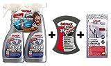 SONAX XTREME 2x 500ml Felgenreiniger Plus mit Multischwamm und Wachstuch - Set