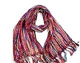 Cool Trade Winds, sciarpa super morbida, multicolore con colori a contrasto, che si abbinano a molti abiti o cappotti invernali. rosa Taglia unica