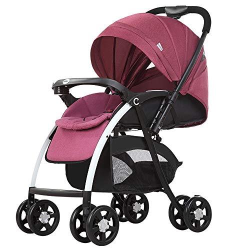 HELIn Poussette Landau Poussette Poussette - Sièges d'auto pour bébé Panier d'accès pour siège d'enfant en face avant ou arrière pleine grandeur avec design pliable compact