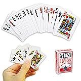 OOTB Mini Jeu de Cartes à Jouer 54 Cartes - Jeu de Voyage, Poker, Solitaire, Bataille etc...