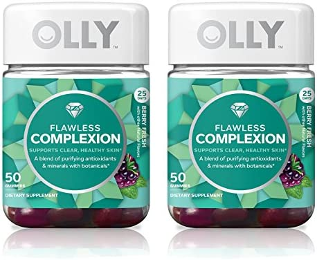 Olly Flawless Complexion Gummy Supplement with antioxidants Berry Fresh 50 Count 25 Day Supply product image