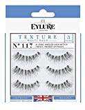 Eylure Texture False Lash, Style No. 117, Reusable, Adhesive Included, 3 Pair
