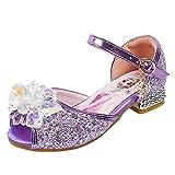 YOSICIL Niñas Zapatos de la Princesa Elsa Disfraz de Reina de Nieve con Lentejuela Zapatos de...