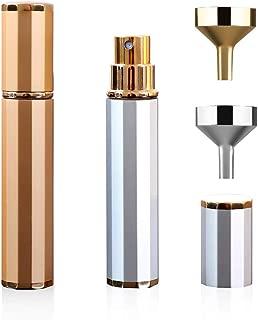 2Pcs Travel Perfume Atomizer Set with Mini Funnel Fillers,Portable Refillable Perfume..