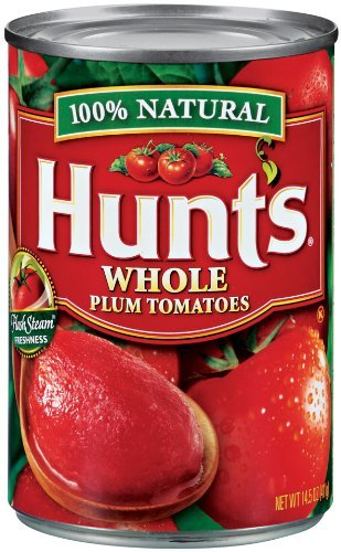 Hunt's Whole Peeled Plum Tomatoes 14.5 Ounce (Pack of 6)