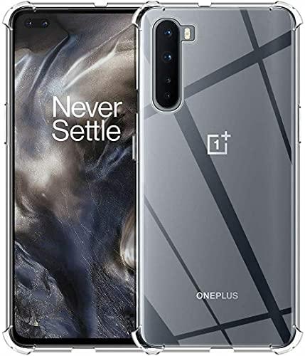 BNBUKLTD Compatible con OnePlus Nord Case Clear a prueba de golpes y lápiz protector de pantalla de cristal
