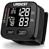 Blood Pressure Monitor-Wrist Accurate Automatic Digital BP Monitor with Large LCD Backlight Display and Includes Batteries,High Blood Pressure Machine Cuff with 180 Memories 2 Users Mode for Home Use