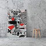 Puzzle 1000 piezas Calle graffiti pintura moda arte pop pintura puzzle 1000 piezas Rompecabezas de juguete de descompresión intelectual educativo divertido juego familiar para50x75cm(20x30inch)