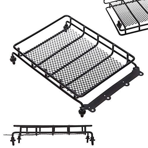 XIANGSHANG Porta Equipaje Coche Universal Negro Acero Transporte de Carga de contenedores de Techo Cesta Cruz Techo Bastidores y Cajas Piezas Portaequipajes