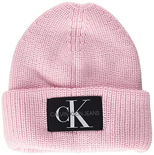 Calvin Klein Monogram Beanie WL Boina, Flor, Talla única para Mujer
