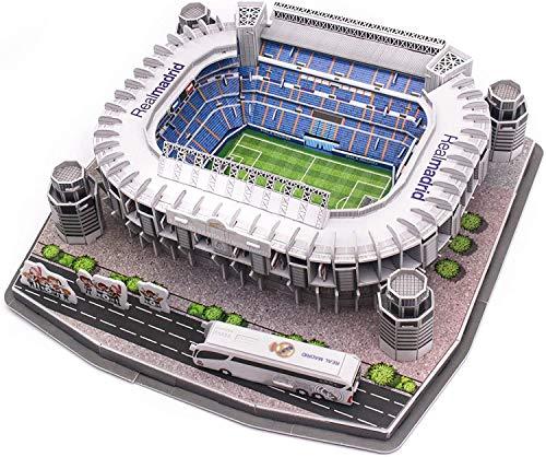Madrid Santiago BERNABEU Estadio 160PCS 3D Rompecabezas de Rompecabezas para Adultos y niños Modelo Kits de construcción Juguetes Juguetes de Navidad Día de cumpleaños Regalo