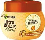 Garnier Ultra Dolce Tesori di Miele -Maschera Ricostituente per Capelli Fragili Che Si Spezzano, 300 ml
