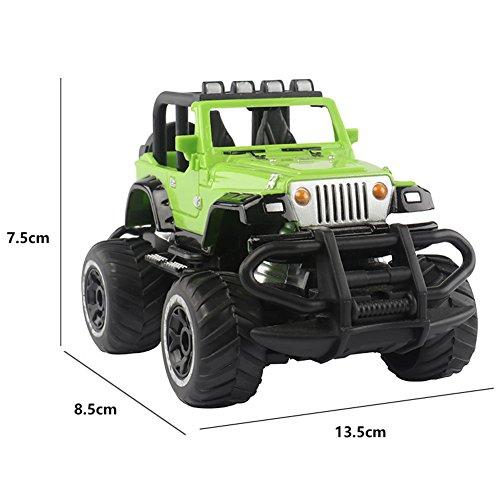 ACHICOO Fahrzeugmodelle, AKDSteel 1:43 Mini RC Offroad-Autos 4 Kanäle Elektrofahrzeugmodell Spielzeug als Geschenk für Kinder gelb Kinder, Freunde