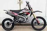CENKOO-125 125cc Cross Dirt Bike Pit Bike Schwarz/Rot (17/14' Räder)