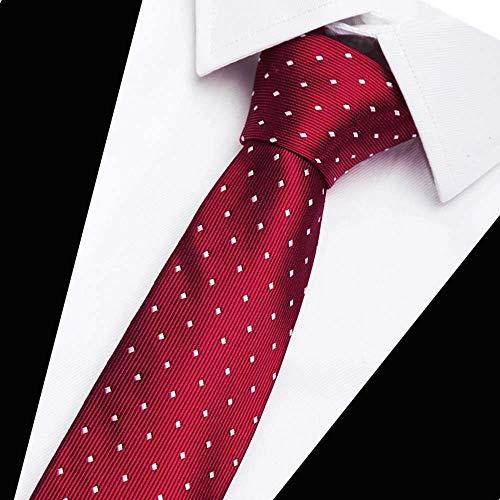FAHFO Krawatten Hochwertige 100% Seidenkrawatten Für Gestreifte Krawatten Für Männer, 98
