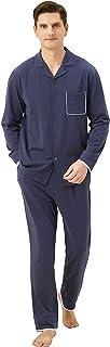 Sponsored Ad - QF-us Mens Pajama Sets Cotton Long Sleeve Long Pants Set Sleepwear Button