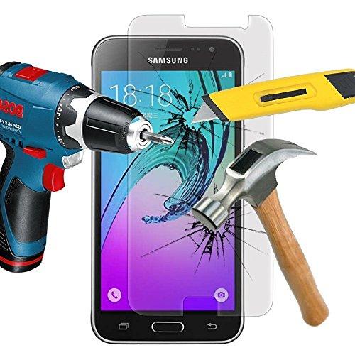 ZIMA® Film vitre de Protection écran pour Samsung Galaxy J3 (2016) J320F / J320P en Verre trempé Haute Transparence et Ultra résistant (incassable, inrayable 9H)