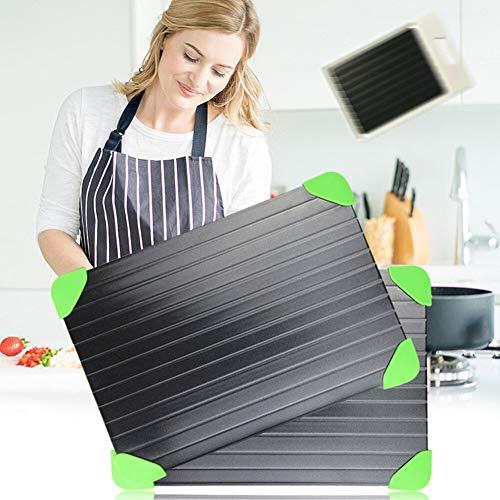 LYXL Auftauplatte Tablett Küche Auftauplatte Für Schnelles Auftauen Schnell Tragbar Zum Auftauen Von Fleisch Küche Xb 66 S Hellgrün