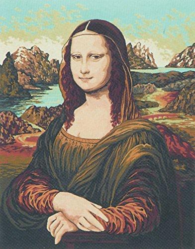 Collection D'Art Leinwand für Stiekerei mit gedruckten Muster, Gobelin, Baumwolle, antik, 50 x 60 x 0,1 cm