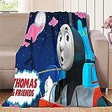 Oversize Flannel Fleece Throw Blanket Thomas and Friends Train Engine Super Soft Warm Blanket 30'x50'