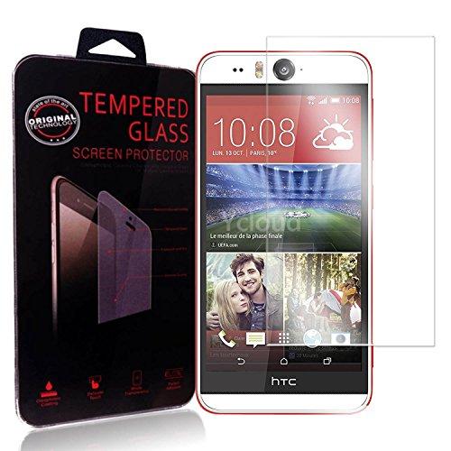 Ycloud Panzerglas Folie Schutzfolie Bildschirmschutzfolie für HTC Desire Eye screen protector mit Festigkeitgrad 9H, 0,26mm Ultra-Dünn, Abger&ete Kanten