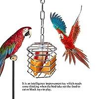 小鳥 餌台 給餌器 小鳥用食器 鳥 給餌器 インコ オウム給餌器 オウムフィーダー ステンレス製 設置簡単 安全 耐久性 知育玩具