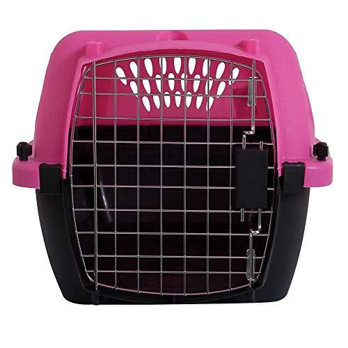Aspen Pet Porter Heavy-Duty Pet Carrier,Dark Pink/Black,UP TO 15 LBS