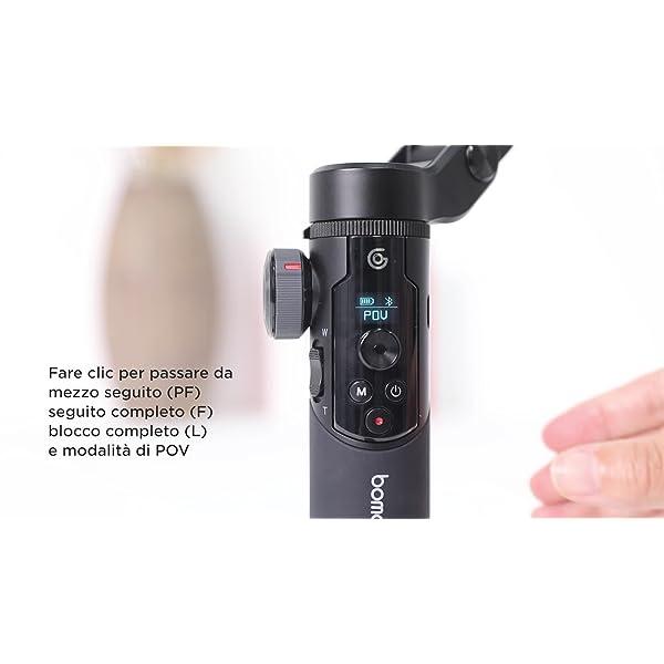 BOMAKER Stabilizzatore Gimbal a 3 Assi per Smartphone, Stabilizzatore Cardanico Portabile, Design Leggero e Pieghevole con Treppiede Impugnatura, modalità di Tracciamento AI per Vlogger e Youtuber 7 spesavip