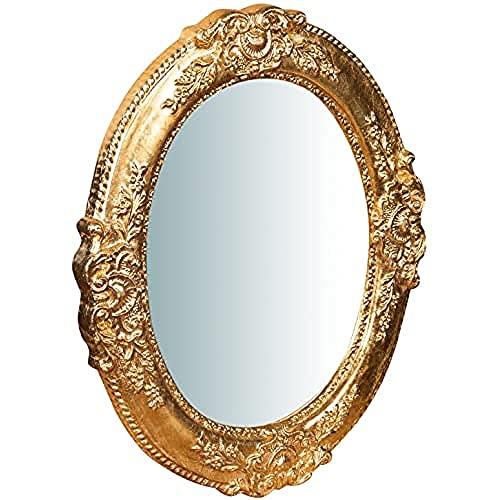 Biscottini Specchio Specchiera da parete in VERTICALE o ORIZZONTALE stile Shabby in legno con finitura foglia oro anticato misure L40xPR2,5xH32 cm produzione Artigianato Fiorentino Made in Italy