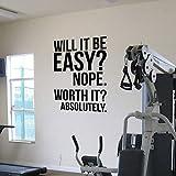 Absolutamente Motivación Cotizaciones Tatuajes de pared Cartel Gran gimnasio Fitness Kettlebell Crossfit Boxing Z801 Letras Decoración Etiqueta de la pared 70X100cm