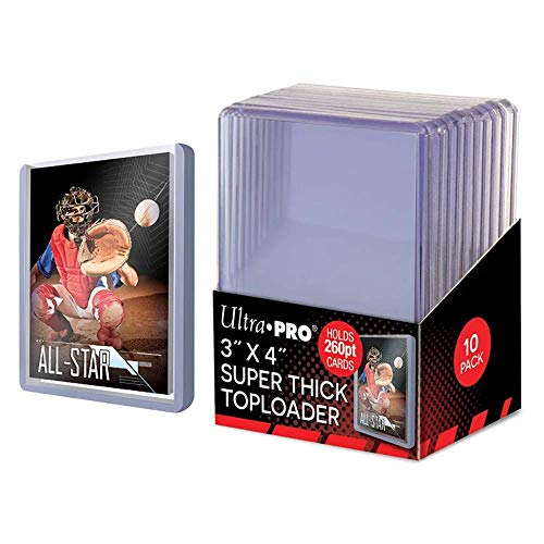 Ultra Pro 85238 - Toploader, 10,3 x 7,6 x 7,6 x 7,8 cm, Colore: Trasparente