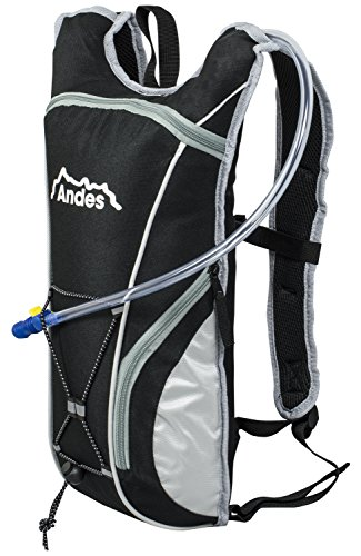 Andes Black 2 Litre Hydration Pack Water Rucksack/Backpack Cycling Bladder Bag New