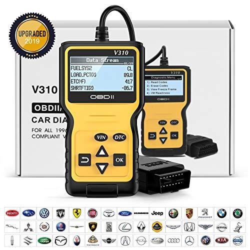POVO OBD2 Diagnosegerät Auto OBDII Universal Fahrzeug Fehlercodeleser Car Diagnose Scanner für alle PKW mit 16-Pin OBD-II Schnittstelle