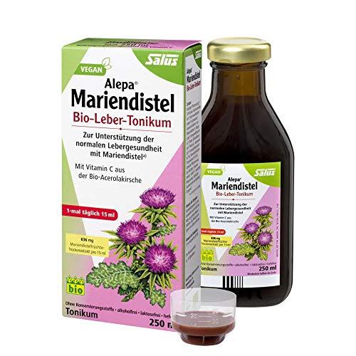 Salus Alepa Mariendistel Bio-Leber-Tonikum – zur Unterstützung der normalen Lebergesundheit mit Mariendistel – vegan – 250 ml