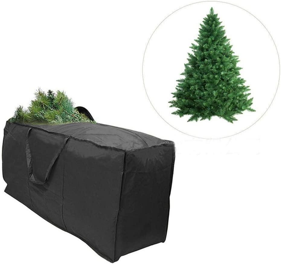 Funmix Bolsa de Almacenamiento Grande para /árbol de Navidad,Funda Coj/ín Bolsos con Bolsa Plegables 210D Oxford con Cremalleras,Asas,Ideal para /árboles de Navidad y Otras Decoraciones de Navidad