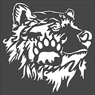 Stencil Bear Paw Bear, Plastic Reusable