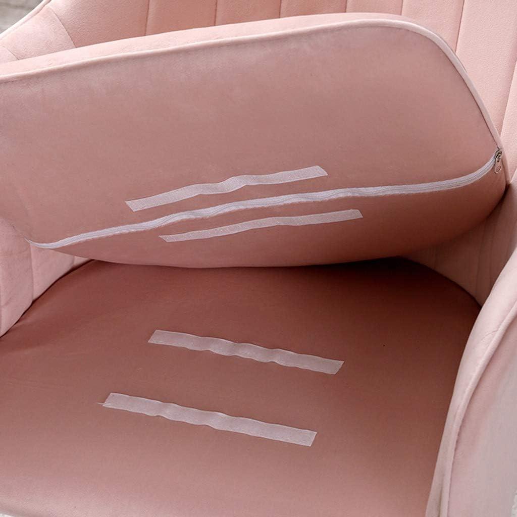 WDX- Chaise de Salle, Chaise de Bureau Simple, créative Dossier, Chaise Loisirs, Maison Adulte Chaise de Salle Confortable (Color : Gray) Pink