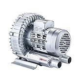 Ventilador de vórtice de Alta presión Potente centrífuga Industrial silenciosa,Soplador Bomba de Aire Vortex Soplador de Hojas,Bomba de vacío Oxigenación del Estanque de Peces