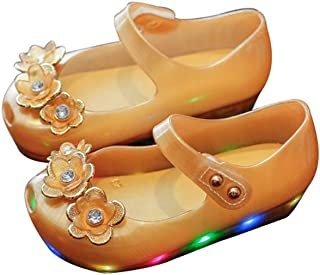 Baby Girl Jelly Sandals Light up Shoes Cute Princess Toddler for Kid Girls LED Shoes