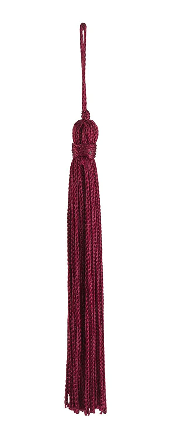 Set of 10 Ruby Chainette Tassel, 4 Inch Long with 1 Inch Loop, Basic Trim Collection Style# RT04 Color:Ruby - E10