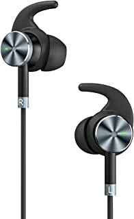 TaoTronics Active Noise Cancelling Headphones, Wired Earphones in Ear Corded Earbuds with 15 Hours Playtime and Built-in Microphone (Noise Reduction, Aluminum Alloy Construction)