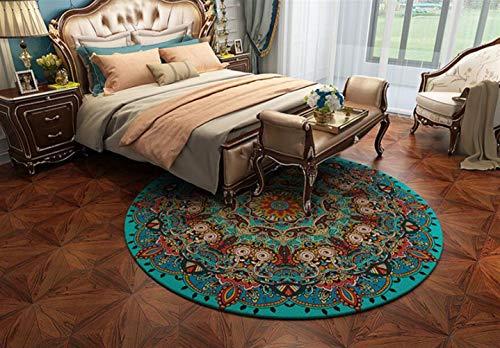 Insun Moderner Teppich Runder Orientteppich für Wohnzimmer oder Schlafzimmer Anti Rutsch Abwaschbarer Stil 9 Durchmesser 120cm