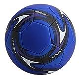 FOLOSAFENAR Balón de fútbol de Entrenamiento Suave a Prueba de explosiones para Equipos para Partidos para exámenes, Pruebas(Football Blue)