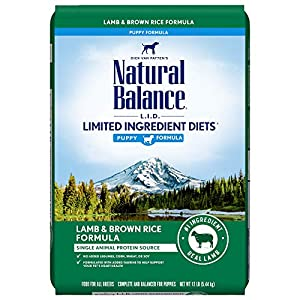 Natural Balance L.I.D. Limited Ingredient Diets Dry Dog Food, 12 Pounds, Lamb & Brown Rice Puppy Formula