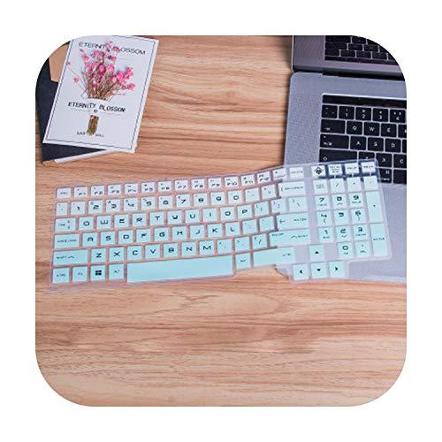 Funda protectora de silicona para teclado de ordenador portátil HP Omen 15 15-Ce015Dx 15-Ce013Dx 15-Ce011Dx Ce018Dx 15-Ce019Dx 15-Ce051Nr-Gradual SkyBlue-