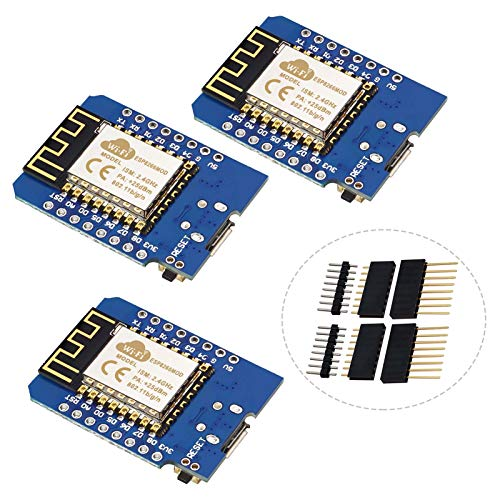 YXPCARS 3 Stück NodeMcu WiFi Entwicklungsboard mit ESP8266 Chip ESP-12F 4MB Byte Modul Kompatibel mit Arduino