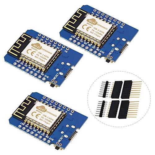 YXPCARS 3 placas de desarrollo WiFi NodeMcu con chip ESP8266 ESP-12F 4 MB Byte módulo compatible con Arduino