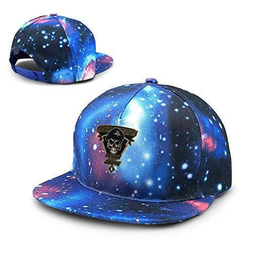 Unisex Death from Above Mobile Infantry Starship Troopers Galaxy Algodón Hip Hop Snapback Sombrero de ala Plana Adulto Papá Gorras de béisbol Azul