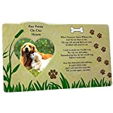 BANBERRY DESIGNS Pet Memorial Picture Frame - When Tomorrow Starts Without Me Loving Poem - Heart Shaped Photograph Opening and Easel Back - in Loving Memory of Dogs